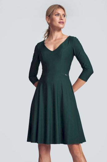 Elastické áčkové šaty M709 FIGL