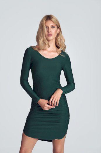 Pouzdrové šaty s řasením M714  FIGL
