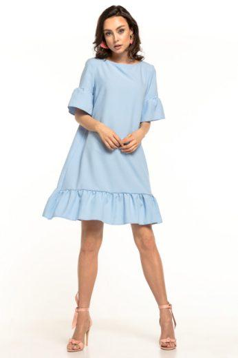 Letní midi šaty s krátkými rukávy T315 TESSITA