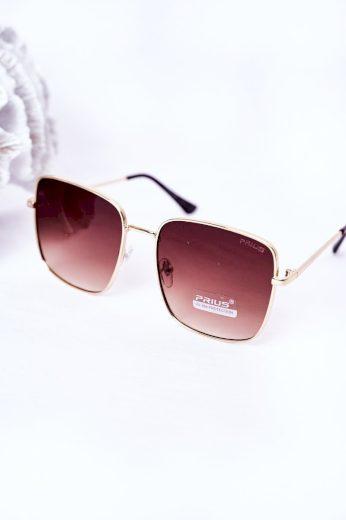 Zlaté Hranaté Brýle Se Modrými čočkami Ombre