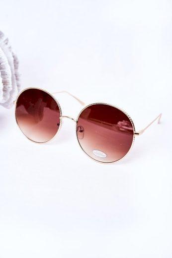 Zlaté Kulaté Brýle Se Hnědými čočkami Ombre