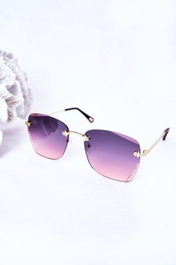 Sluneční Brýle S Zirkonem Hnědé Ombre