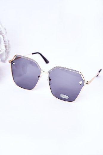 Geometrické Sluneční Brýle Hnědé Ombre