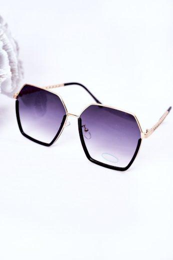 Geometrické Sluneční Brýle Černé Ombre