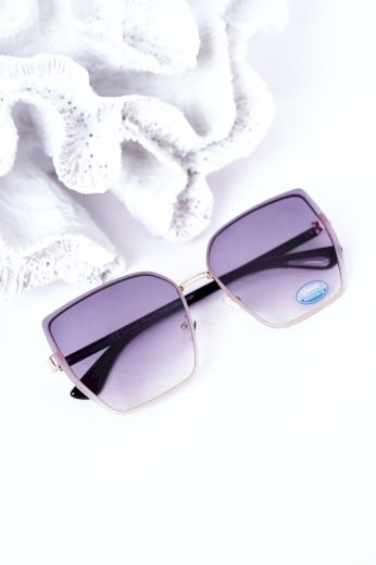Zlaté Hranaté Brýle Modré-Růžové Ombre