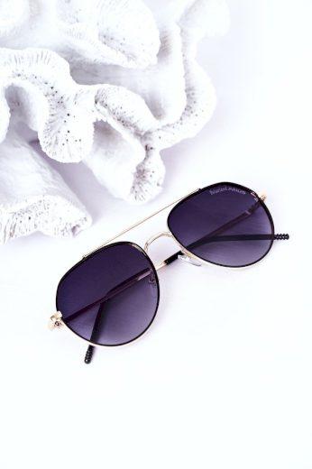 Sluneční Polarizované Brýle Aviator Hnědé