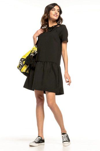 Jednoduché letní šaty s okouzlujícím volánkem T279 TESSITA