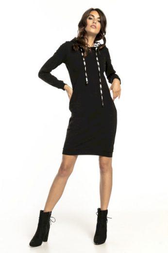 Sportovní šaty s kapucí se vzorem T293 TESSITA