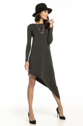 Asymetrické šaty s dlouhým rukávem T299 TESSITA