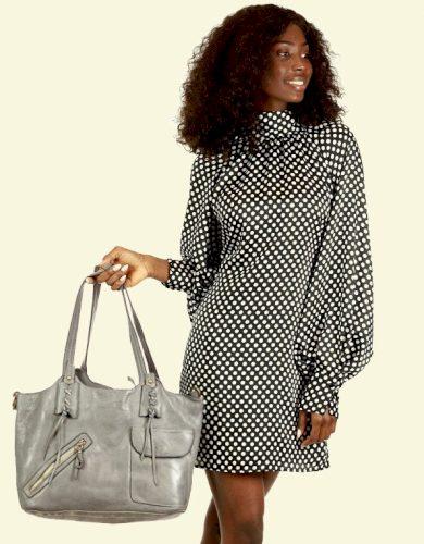 Originální shopper kabelka taška ve stylu boho přírodní kůže