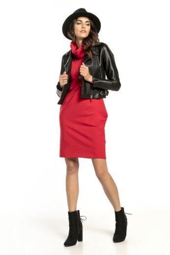 Pletené bavlněné šaty s komínem T296 TESSITA