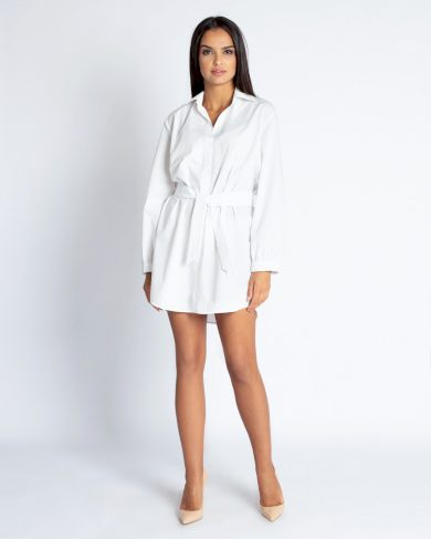 Košilové šaty Celin s límečkem a opaskem DURSI