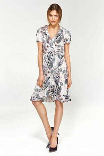 Letní vzorované šaty s volánky s krásnými květinami NIFE