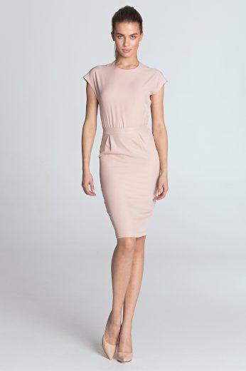 Jednobarevné pouzdrové šaty