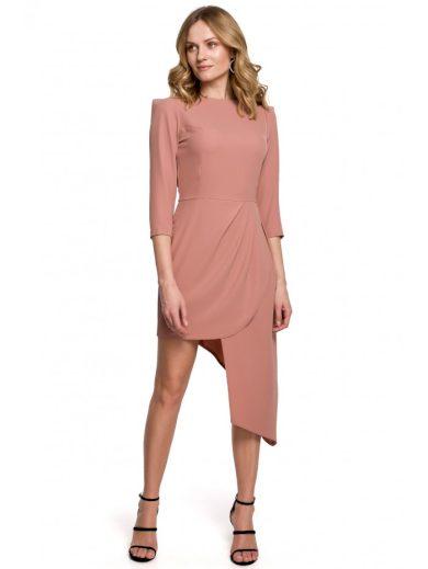 Asymetrické plášťové šaty MAKEOVER K047