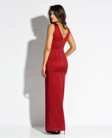 Elegantní maxi šaty Bella s rozparkem na noze a řetízkem