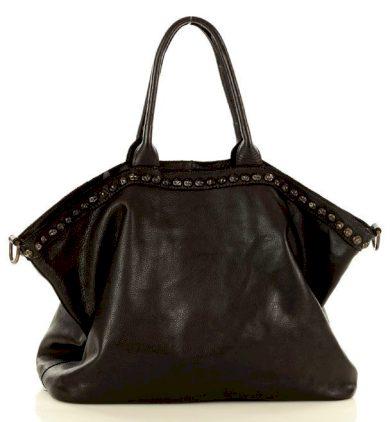 Kožená kabelka shopper velká taška s tryskami Marco Mazzini