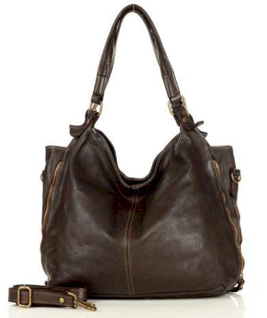 Velká kabelka kožená taška shopper Sacco vintage old pelle lavata
