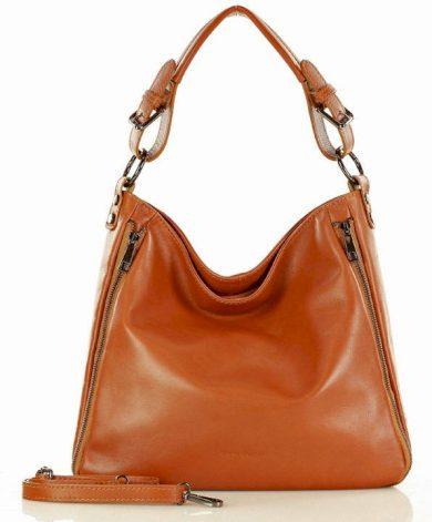 Kožená dámská kabelka na rameno italská taška MARCO MAZZINI