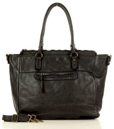 Marco Mazzini italská kabelka shopper nákupní taška vera pelle