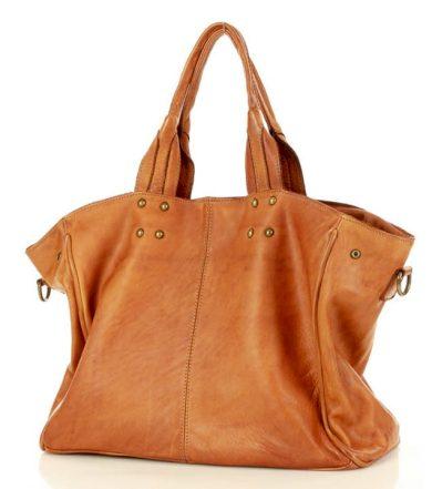 Designerska kabelka kožená shopper taška vera pelle