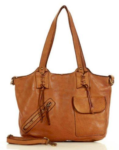 Originální kabelka shopper kožená taška přes rameno boho styl