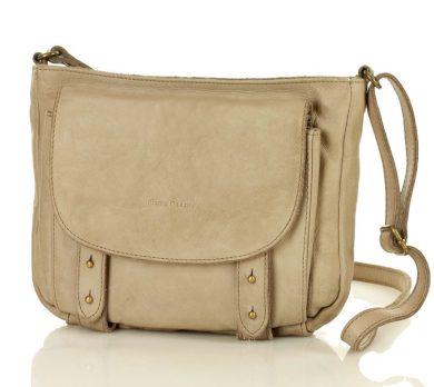 Kožená mini kabelka vintage messenger taška MARCO MAZZINI