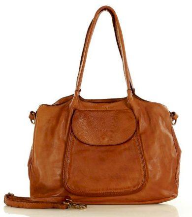 Kožená kabelka shopper taška inspirovaná přírodou