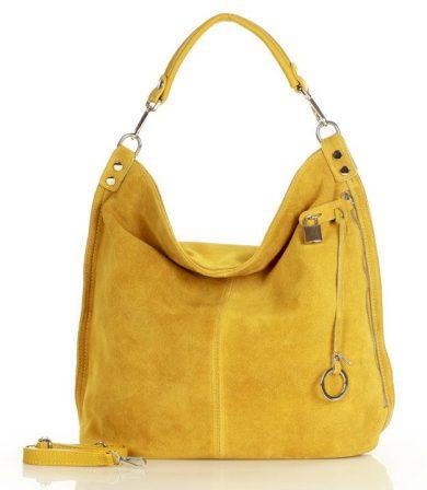 Nadčasová kožená taška shopper MAZZINI - Renella nubuk