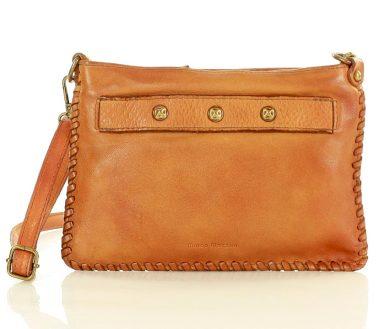 Malá kabelka z přírodní kůže cluth spojková taška boho