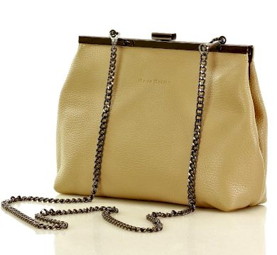Kožená formální kabelka s řetízkem taška s ušními dráty