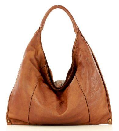Minimalistická kožená kabelka přes rameno taška old pelle lavata