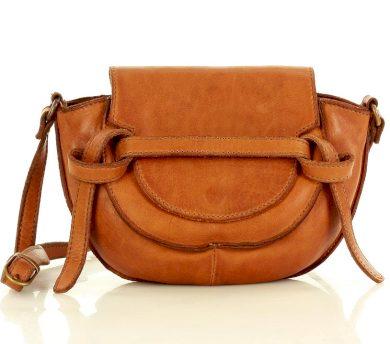 Kožená kabelka listonoška saddle bag taška sedlová Marco Mazzini
