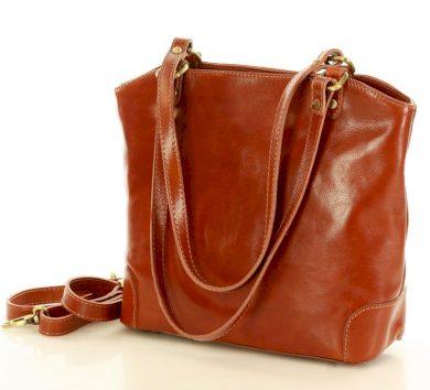 Shopper kožená kabelka Trapese taška artigianato hnědá