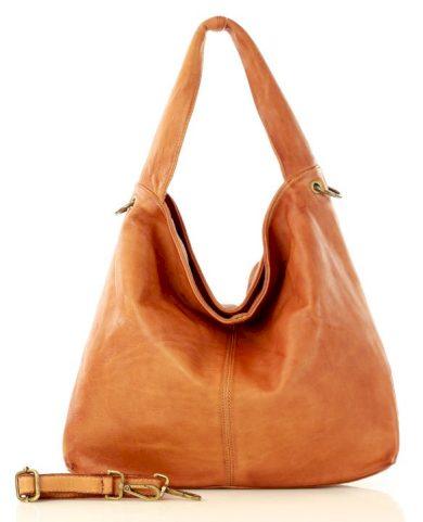 Kožená kabelka designerska sacco vera pella shopper italská taška