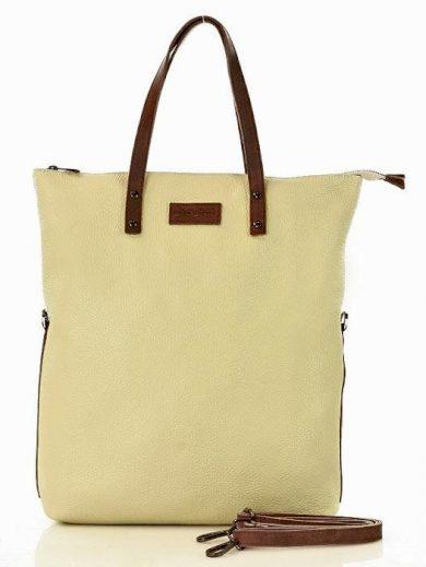 MARCO MAZZINI Shopper retro kabelka z přírodní kůže