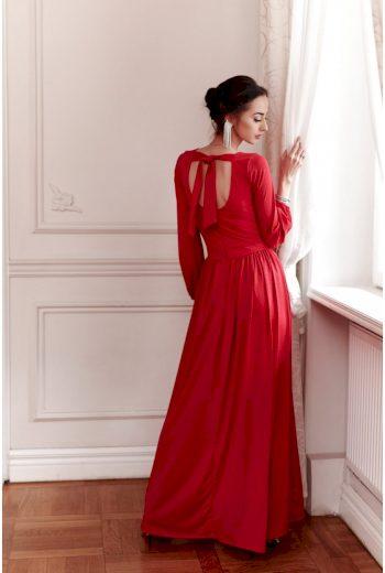 Maxi šaty s obálkovým výstřihem