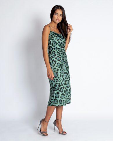 Vzorované dlouhé šaty Tipi se zvířecím vzorem DURSI
