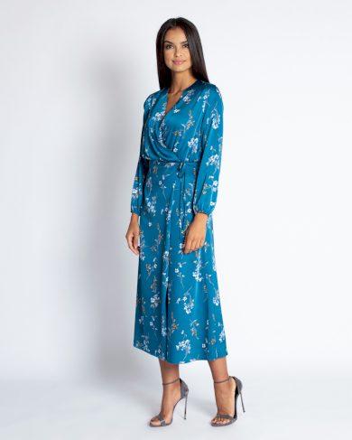 Elegantní midi šaty Santo vzorované