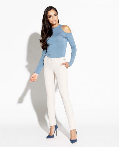 Elegantní vypasované kalhoty Tinny DURSI BÉŽOVÉ XS