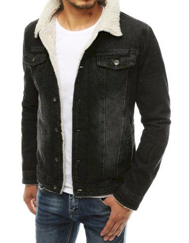Riflová bunda pánská džínová bunda s kožešinovou podšívkou
