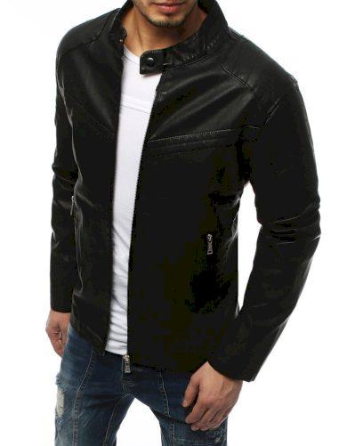 Pánská koženková přechodová bunda z ekologické kůže