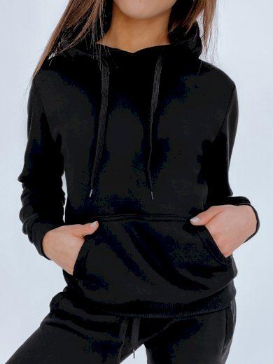 Dámská mikina BASIC s kapucí šedá Dstreet