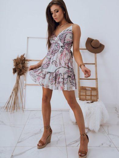 Letní šaty s potiskem s obálkovým výstřihem MADI Dstreet