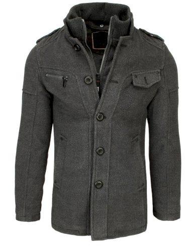 Pánský kabát v šedé barvě CX0418