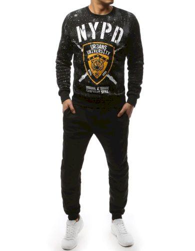 Tepláková souprava NYPD mikina s potiskem bez kapuce