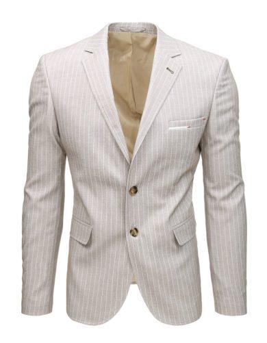 Neformální sako s pruhy ležérní jednořadé  sako pánské
