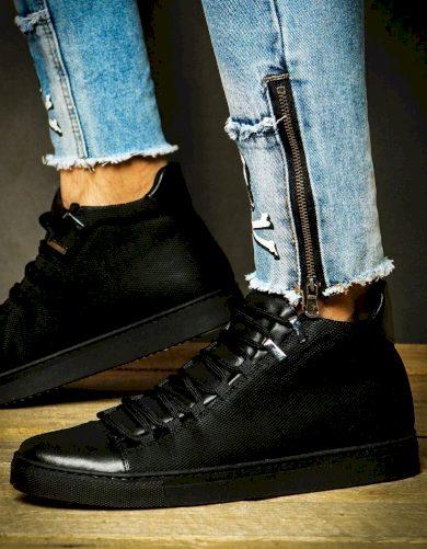 Černé elegantní tenisky pánská obuv ZX0122
