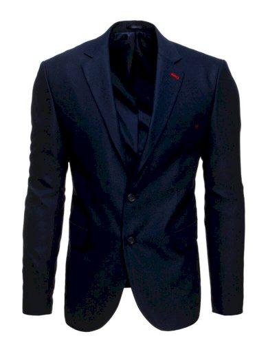 Neformální sako modré pánské ležérní sako na knoflíky