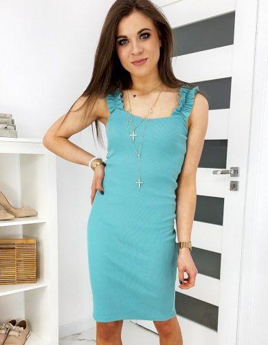 Pouzdrové šaty s ozdobnými volány VINTO